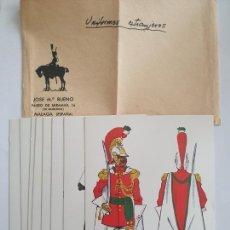 Postales: UNIFORMES DE GALA DEL MUNDO ACTUAL - SERIE 8 FICHAS. Lote 201621155