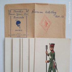 Postales: IMPERIO RUSO - ARTILLERÍA RUSA 1809-1814 - 6 TARJETAS . Lote 201641297