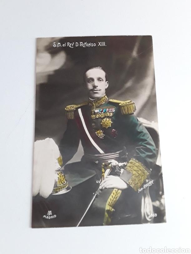 POSTAL CON FOTOGRAFÍA DE S.M. EL REY D.ALFONSO XIII (Postales - Postales Temáticas - Militares)