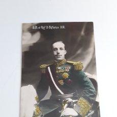 Postales: POSTAL CON FOTOGRAFÍA DE S.M. EL REY D.ALFONSO XIII. Lote 203333321