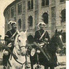 Postales: LA GUARDIA CIVIL A CABALLO- PLAZA DE TOROS SAN SEBASTIÁN- AÑO 1912- RARA. Lote 203809312