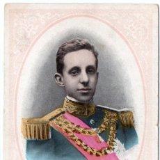 Postales: POSTAL DE ALFONSO XIII SELLADA Y RESELLADA, PARIS AÑO 1905. Lote 204595856