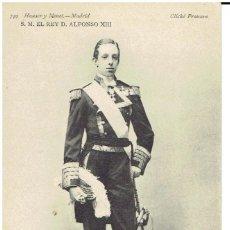 Postales: POSTAL, S.M. DON ALFONSO XIII, REY DE ESPAÑA, HAUSER Y MENET 749, DIVIDIDA, SIN CIRCULAR. Lote 205407460
