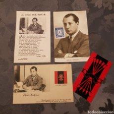 Postales: PACK FALANGE. 3 POSTALES JOSÉ ANTONIO+CALENDARIO FECHAS SEÑALADAS 81. Lote 205851280