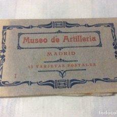 Postales: 12 TARJETAS POSTALES MUSEO DE ARTILLERÍA - 1ª SERIE - COMPLETO. Lote 206596146