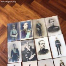 Postales: LOTE 12 POSTALES DE ALFONSO XII. 9 SIN PARTIR. 2 DE CAZA.. Lote 206768468