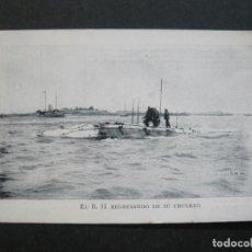 Postales: PUBLICIDAD MARITIMA PATRIOTICA-SUBMARINO-B.II REGRESANDO DE SU CRUCERO-POSTAL ANTIGUA-(71.884). Lote 209209345