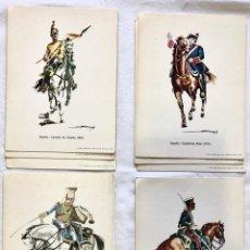 Postales: LOTE 4 POSTALES MILITARES UNIFORMES EJERCITO ESPAÑOL ILUSTRADAS POR R. ANDRES.. Lote 213918101
