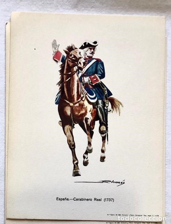 Postales: LOTE 4 POSTALES MILITARES UNIFORMES EJERCITO ESPAÑOL ILUSTRADAS POR R. ANDRES. - Foto 3 - 213918101