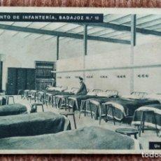 Postales: REGIMIENTO DE INFANTERIA BADAJOZ Nº 10 - DORMITORIO. Lote 214038866