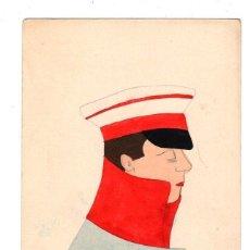 Postales: TARJETA POSTAL CON ESCENA MILITAR PINTADA. ACUARELA. C. 1910. Lote 214168197