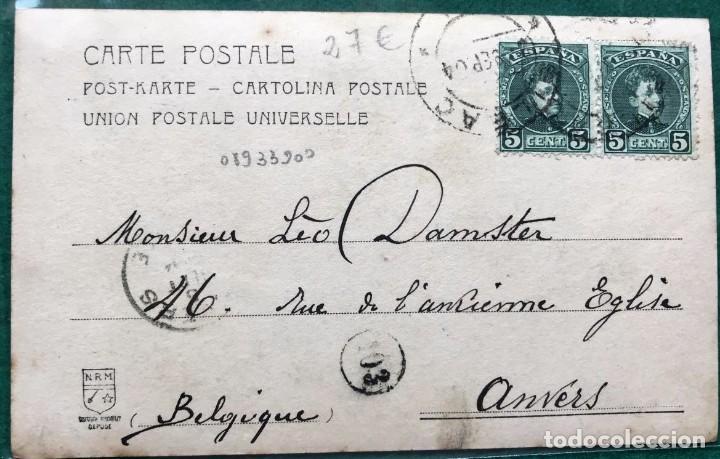 Postales: Tarjeta postal carlista. Don Carlos VII. Circulada en 1904 - Foto 2 - 216804911