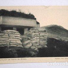 Postales: DEL CINTURÓN DE HIERRO DE BILBAO. AL DORSO, SELLO FUERZAS REGULARES INDÍGENAS DE MELILLA, JEFE TABOR. Lote 217851437