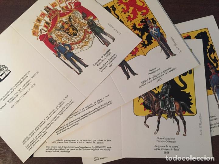 Postales: CARTAS-POSTALES DOBLES 150 ANIVERSARIO INDEPENDENCIA BÉLGICA, MUY RAROS Y ESCASOS - 1980 (MILITARES) - Foto 2 - 218900275