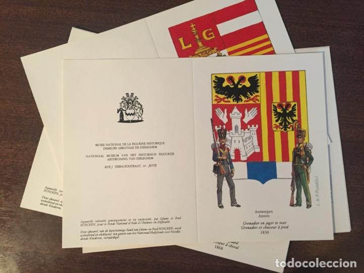 Postales: CARTAS-POSTALES DOBLES 150 ANIVERSARIO INDEPENDENCIA BÉLGICA, MUY RAROS Y ESCASOS - 1980 (MILITARES) - Foto 3 - 218900275
