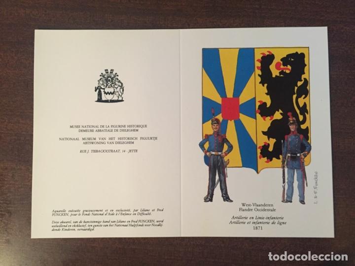Postales: CARTAS-POSTALES DOBLES 150 ANIVERSARIO INDEPENDENCIA BÉLGICA, MUY RAROS Y ESCASOS - 1980 (MILITARES) - Foto 4 - 218900275