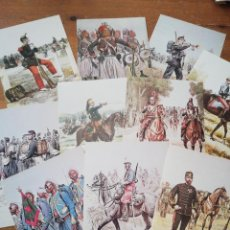 Postales: LOTE DE 10 POSTALES UNIFORMES FRANCESES 1885-1887. Lote 219197351