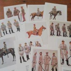 Postales: LOTE DE 10 POSTALES UNIFORMES ALEMANES PRIMERA GUERRA MUNDIAL. Lote 219197723
