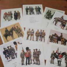 Postales: LOTE DE 10 POSTALES UNIFORMES BRITÁNICOS 1914-1918. Lote 219197875