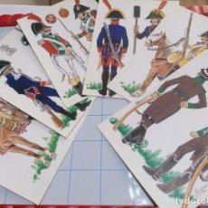 Postales: LOTE 6 POSTALES LA BATALLA DE BAILEN. Lote 219206815