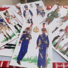 Postales: LOTE DE 7 POSTALES LA BATALLA DE BAILEN. EJÉRCITO FRANCÉS. Lote 219206956