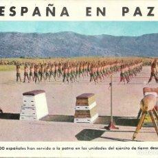 Postales: TARJETA POSTAL ESPAÑA DE LOS EJERCICIOS FÍSICOS DE LOS RECLUTAS DEL EJERCITO DE TIERRA. Lote 219879420