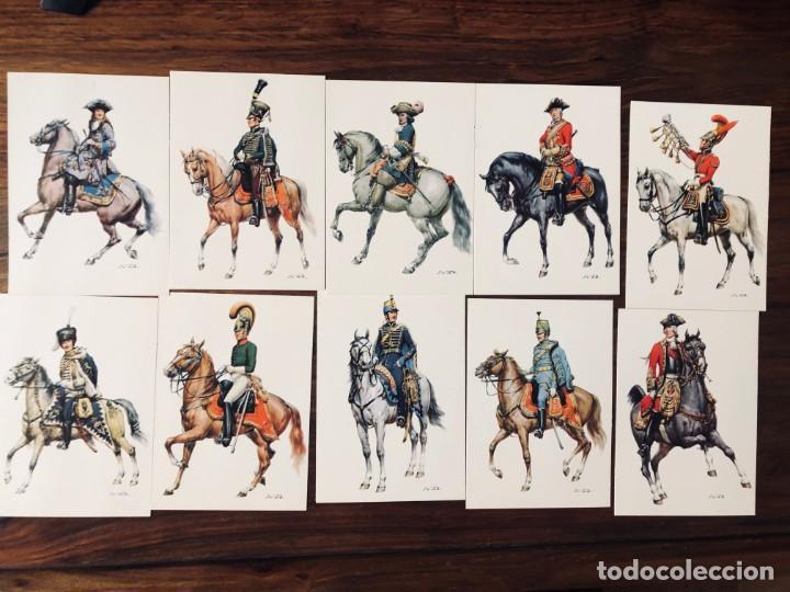 Postales: 24 Soldados de Caballeria. Orig. W. Tritt. Edición Korsch. Munich. Alemania. - Foto 2 - 220413111
