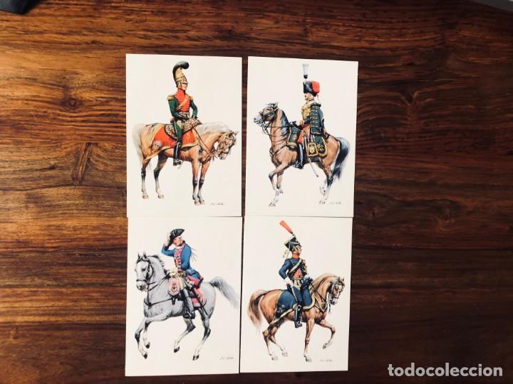 Postales: 24 Soldados de Caballeria. Orig. W. Tritt. Edición Korsch. Munich. Alemania. - Foto 3 - 220413111