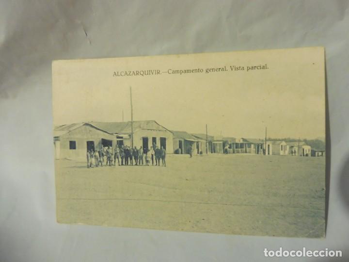 POSTAL ALKAZARKIVIR ALCAZARQUIVIR (MARRUECOS) CAMPAMENTO GENERAL VISTA PARCIAL SIN AUTOR (Postales - Postales Temáticas - Militares)