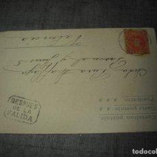 Postales: RARA POSTAL CIRCULADA CON CUÑO DESPUES DE LA SALIDA 1902 MILITAR. Lote 220961798