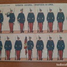 Postales: POSTAL MILITAR EJERCITO ESPAÑOL: INFANTERÍA EN LÍNEA. Lote 222235596