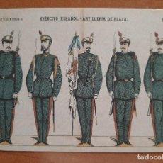 Postales: POSTAL MILITAR EJERCITO ESPAÑOL : ARTILLERÍA DE PLAZA. Lote 222236251