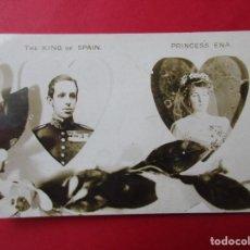 Postales: POSTAL FOTOGRÁFICA DEL REY DE ESPAÑA, ALFONSO XIII Y LA PRINCESA ENA.. Lote 222450331