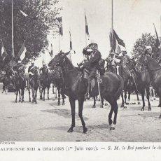 Postales: MONARQUIA ALFONSO XIII A CHALONS 1905. ED. ND FOTO Nº 23. POSTAL FRANCESA SIN CIRCULAR. Lote 222593087