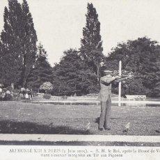 Postales: MONARQUIA ALFONSO XIII A PARIS 1905. ED. ND FOTO Nº 62. POSTAL FOTOGRAFICA FRANCESA SIN CIRCULAR. Lote 222593366