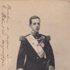 Postales: MONARQUIA S. M. ALFONSO XIII. ED. HAUSER Y MENET Nº 415. REVERSO SIN DIVIDIDIR. CIRCULADA. Lote 222594660