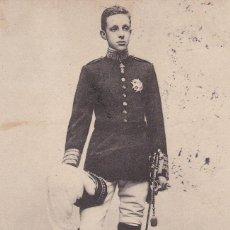 Postales: MONARQUIA S. M. ALFONSO XIII. ED. C.L.C. REVERSO SIN DIVIDIDIR. POSTAL FRANCESA CIRCULADA EN 1905. Lote 222595526
