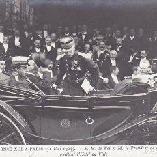 Postales: MONARQUIA ALFONSO XIII EN PARIS EN 1905. ED. ND. Nº 15. POSTAL FOTOGRAFICA FRANCESA SIN CIRCULAR. Lote 222598930