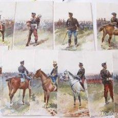 Postales: POSTALES ILUSTRADAS 1902 POR CUSACHS SOLDADOS MILITAR SERIE COMPLETA SIN CIRCULAR. Lote 223599365