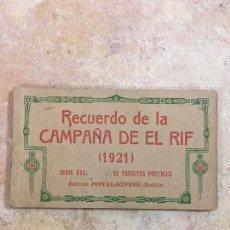 Postales: BLOCK RECUERDO DE LA CAMPAÑA DE EL RIF 1921 SERIE III MELILLA. Lote 223835023