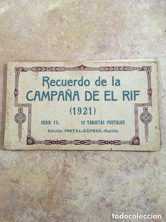BLOCK RECUERDO DE LA CAMPAÑA DE EL RIF 1921 SERIE II MELILLA (Postales - Postales Temáticas - Militares)