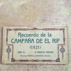 Postales: BLOCK RECUERDO DE LA CAMPAÑA DE EL RIF 1921 SERIE II MELILLA. Lote 224180393