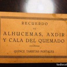 Postales: BLOK RECUERDO ALHUCEMAS, AXDIR, CALA DEL QUEMADO.15 POSTALES, EL DESEMBARCO DE ALHUCEMAS AÑOS 1920. Lote 224236483