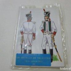 Postales: UNIFORMES DE LA BATALLA DE TALAVERA - I - 18 POSTALES - COMPLETA - N 4. Lote 230680425