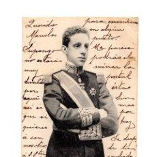 Postales: S.M. D.ALFONSO XIII REY DE ESPAÑA. FOTO LAURENT. 17 DE MAYO DE 1902.. Lote 234334900