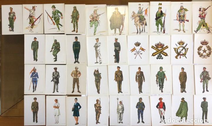 CONJUNTO COLECCIÓN DE 42 POSTALES MILITARES (Postales - Postales Temáticas - Militares)