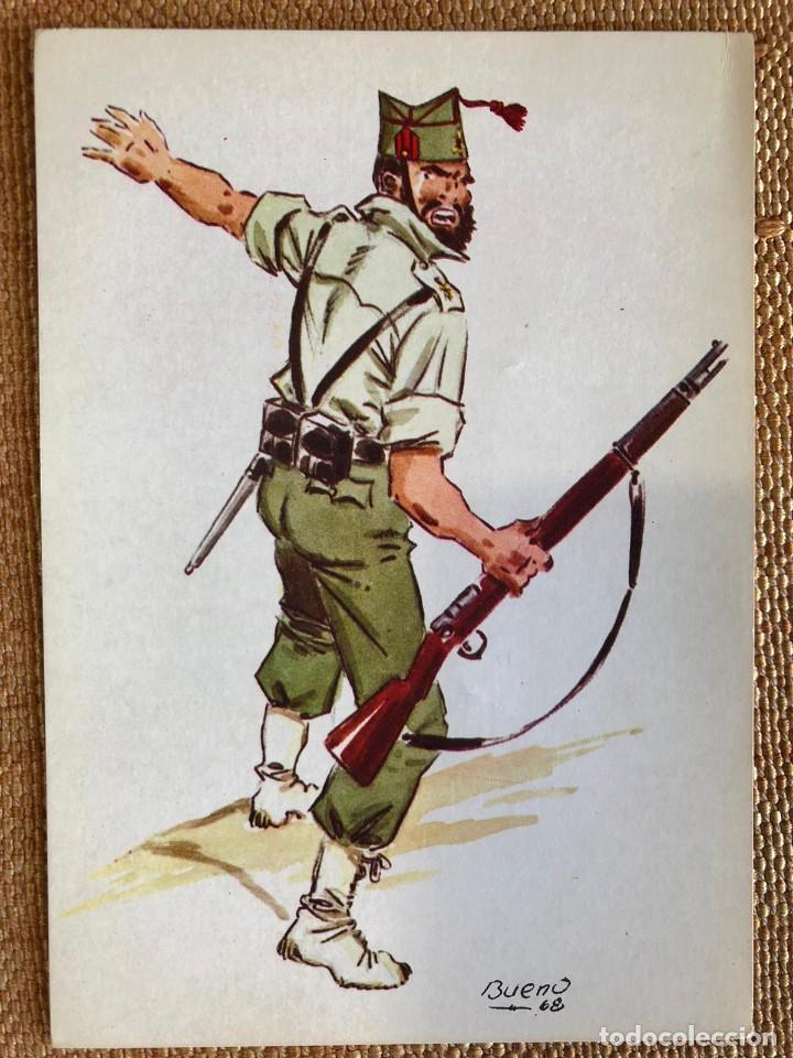 Postales: CONJUNTO COLECCIÓN DE 42 POSTALES MILITARES - Foto 3 - 235378275