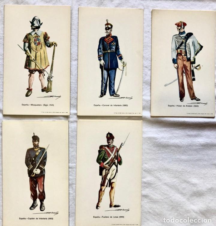 Postales: CONJUNTO COLECCIÓN DE 42 POSTALES MILITARES - Foto 5 - 235378275