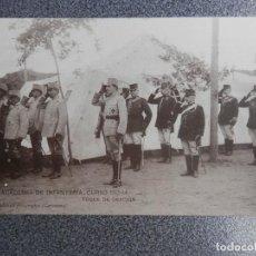 Postales: TEMATICA MILITAR ACADEMIA INFANTERIA 1913-14 TOQUE ORACION POSTAL ANTIGUA. Lote 236406040