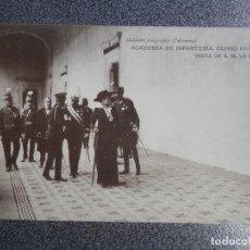 Postales: TEMATICA MILITAR ACADEMIA INFANTERIA 1913-14 VISITA S.M. REINA POSTAL ANTIGUA. Lote 236406050